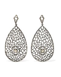 Loree Rodkin   Metallic 18-karat Rhodium White Gold Diamond Earrings   Lyst