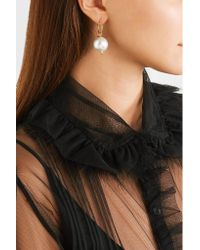 Simone Rocha - White Gold-plated Faux Pearl Earrings - Lyst