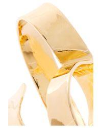 Jennifer Fisher - Metallic Overlap Script Gold-plated Ring - Lyst
