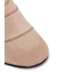 Chloé - Multicolor Lexie Crosta Paneled Suede Ankle Boots - Lyst