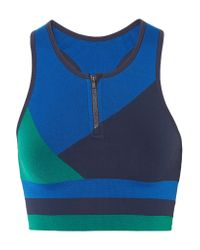 LNDR - Blue Wild Cat Paneled Stretch-jersey Sports Bra - Lyst