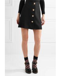 Miu Miu - Black Embellished Cady Mini Skirt - Lyst