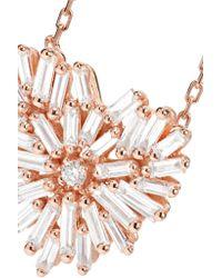 Suzanne Kalan - Metallic Angel 18-karat Rose Gold Diamond Necklace Rose Gold One Size - Lyst