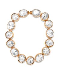 Kenneth Jay Lane | Metallic Gold-plated Crystal Necklace | Lyst