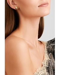 Fred Leighton - Metallic Collection 18-karat Gold Diamond Earrings Gold One Size - Lyst