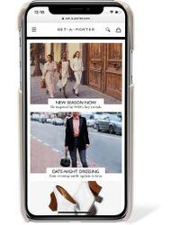 Prada - White Embellished Textured-leather Iphone X Case - Lyst
