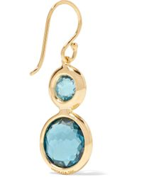 Ippolita - Metallic Lollipop 18-karat Gold, Topaz And Diamond Earrings - Lyst