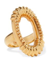 Chloé - Metallic Exclusive Gold-tone Ring - Lyst