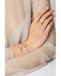 Carolina Bucci - Metallic Virgo Lucky Zodiac 18-karat Gold, Diamond, Mother-of-pearl And Silk Bracelet - Lyst