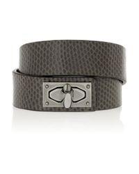 Givenchy - Brown Shark Lock Bracelet In Snake And Ruthenium-tone Brass - Lyst