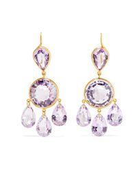 Marie-hélène De Taillac - Metallic 18-karat Gold Amethyst Earrings - Lyst