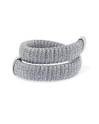 Carolina Bucci - Metallic Caro White Gold-plated And Lurex Bracelet - Lyst