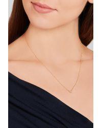 Ileana Makri   Metallic 18-karat Gold Diamond Necklace   Lyst