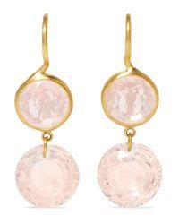 Marie-hélène De Taillac - Metallic 18-karat Gold Quartz Earrings - Lyst