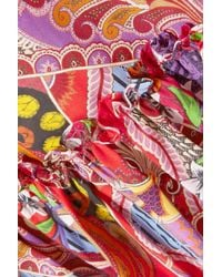 Etro - Red Printed Cotton-voile Maxi Skirt - Lyst