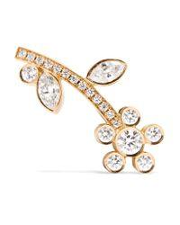 Sophie Bille Brahe - Metallic Croissant Amelia 18-karat Gold Diamond Earring - Lyst