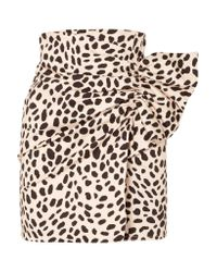 Silvia Tcherassi - Multicolor Willow Gathered Leopard-print Stretch-cotton Mini Skirt - Lyst