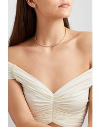 Anita Ko - Metallic 18-karat Rose Gold Diamond Necklace - Lyst