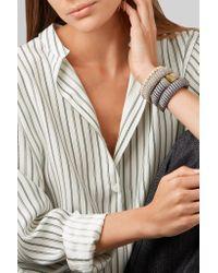 Carolina Bucci - Caro Gold-plated And Metallic Cotton Bracelet - Lyst
