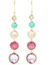 Ippolita - Metallic Lollipop Lollitini 18-karat Gold Multi-stone Earrings Gold One Size - Lyst