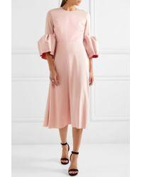 Roksanda - Pink Turlin Stretch-crepe Midi Dress - Lyst