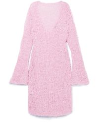 Christopher Kane - Pink Open-knit Midi Dress - Lyst
