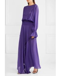 Preen Line - Purple Aria Ruffled Chiffon Maxi Dress - Lyst