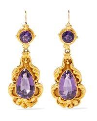 Fred Leighton - Metallic 1840s 18-karat Gold Amethyst Earrings - Lyst