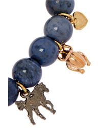 Carolina Bucci - Metallic Recharmed Lucky 18-karat Yellow, Rose And White Gold And Dumortierite Bracelet - Lyst
