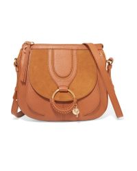 See By Chloé - Multicolor Hana Small Textured-leather And Suede Shoulder Bag - Lyst