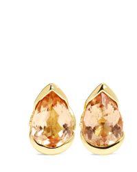 Fernando Jorge - Metallic Bloom 18-karat Gold, Topaz And Diamond Earrings - Lyst