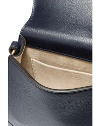 Chloé - Blue Nile Bracelet Small Embellished Textured-leather And Suede Shoulder Bag - Lyst