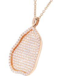 Kimberly Mcdonald - Metallic 18-karat Rose Gold Diamond Necklace - Lyst