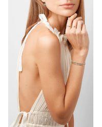 Jennifer Meyer Metallic 18-karat Gold Turquoise Bracelet