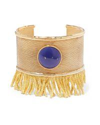 Aurelie Bidermann - Blue Azzura Gold-plated Resin Cuff - Lyst