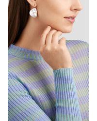 Mizuki - Metallic 14-karat Gold, Pearl And Diamond Earrings - Lyst