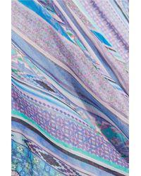 Matthew Williamson - Blue Saya Stripe Silk-chiffon Maxi Dress - Lyst