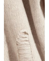Raquel Allegra Natural Distressed Cashmere Sweater