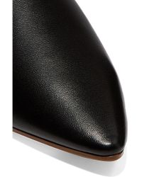 Acne - Black Amina Collapsible-heel Leather Slippers - Lyst