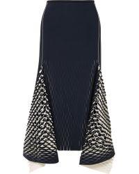 Dion Lee - Blue Asymmetric Cutout Neoprene Midi Skirt - Lyst
