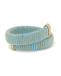 Carolina Bucci - Metallic Caro Gold-plated And Cotton Bracelet - Lyst