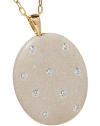 Cvc Stones - Metallic 18-karat Gold, Stone And Diamond Necklace - Lyst