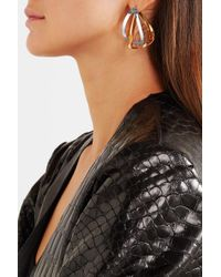 Charlotte Chesnais - Metallic Maxi Endless Gold-dipped And Silver Earring - Lyst