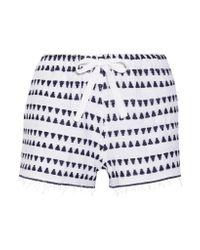 Lemlem - Blue Yeshi Cotton-blend Gauze Shorts - Lyst