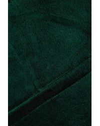 Theory - Green Cotton-blend Velvet Straight-leg Pants - Lyst