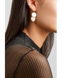 Mizuki - Metallic 14-karat Gold, Pearl And Diamond Earrings Gold One Size - Lyst