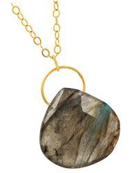 Melissa Joy Manning - Metallic 14-karat Gold Labradorite Necklace - Lyst