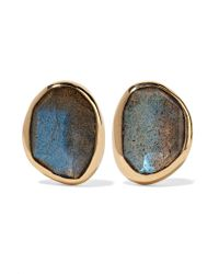 Melissa Joy Manning - Metallic 14-karat Gold, Sterling Silver And Labradorite Earrings - Lyst