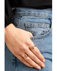 Repossi - Multicolor Technical Berbère 18-karat Rose Gold Ring - Lyst