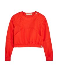 Marni - Red Cropped Twill Top - Lyst